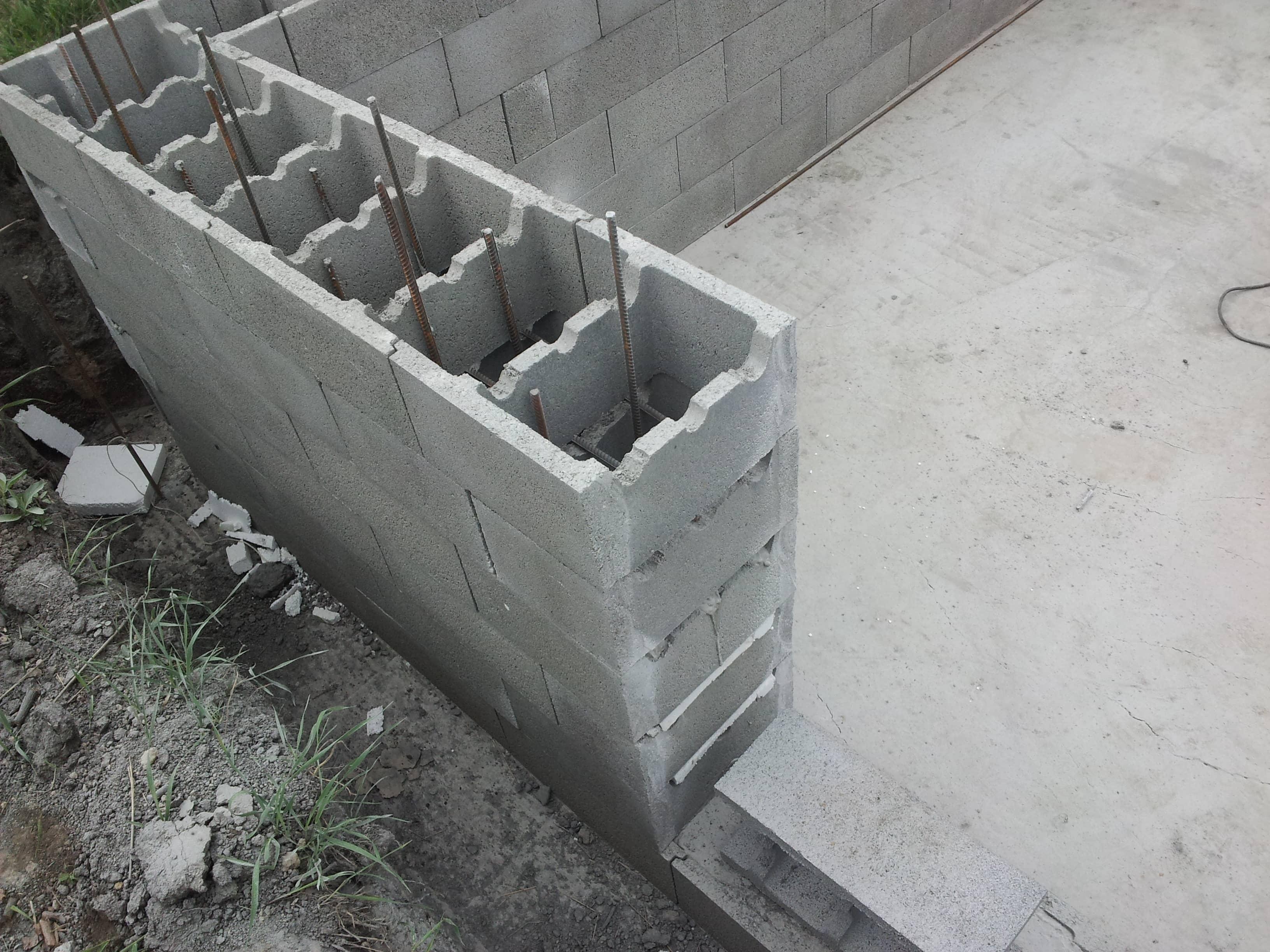 пустотелые стены из бетона