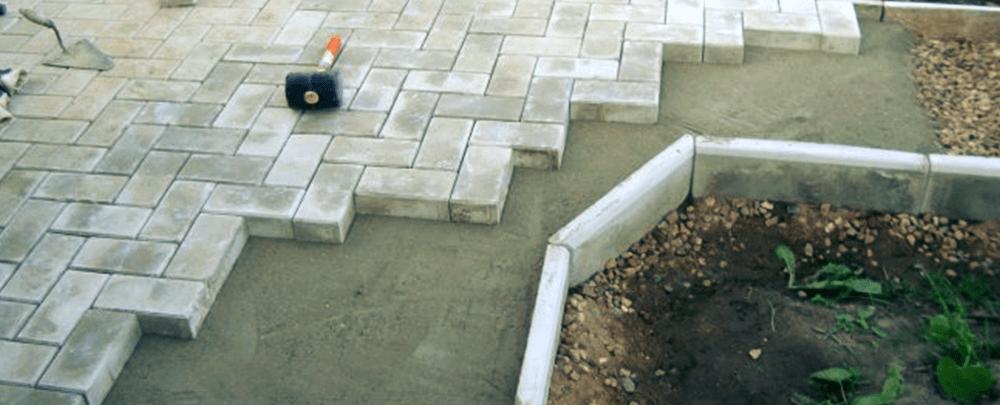 Смесь для укладки тротуарной плитки на бетонное смеси строительные бетонные гост